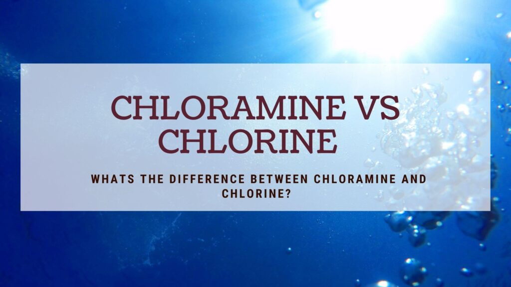 whats the difference between chlorine and chloramine